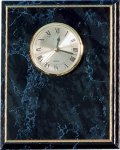 Black Marble Finish Clock Plack Achievement Awards