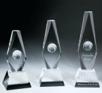 Diamond Globe Trophy Crystal Award Achievement Awards