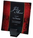 Laserable Glass Tray Red Achievement Awards