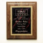 Walnut Plaque Achievement Awards