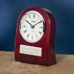 Piano Wood Clock with Curved Profile Employee Awards