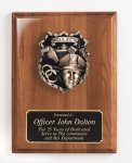 Piano Finish Plaque with Metal Casting Employee Awards