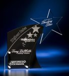 Clear Star with Black Accent Acrylic Award Sales Awards