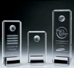 Crystal Tower Award W/Globe Sales Awards