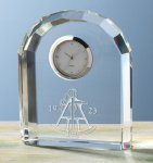 Faceted Arch Clock Secretary Gift Awards