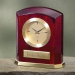 Piano Finish Wood & Brass Secretary Gift Awards