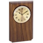 Walnut Clock Mount, Rounded Wall Clock Plaques