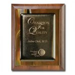 Brown Metallic Fusion Walnut Plaques