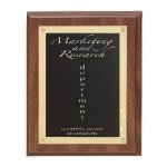 Walnut Finish Rosette Plaque Walnut Plaques