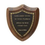 Laurel Shield Plaque Walnut Plaques