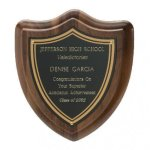 Classic Shield Plaque Walnut Plaques